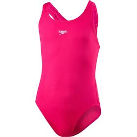 speedo Girls Essential Endurance+ Medalist Swimsuit Electric Pink
